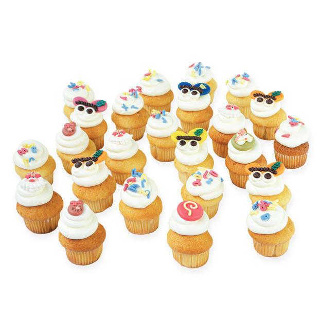 gefelicitaart Mini Sinterklaas Cupcakes
