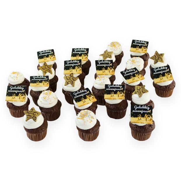 Mini Nieuwjaars Cupcakes