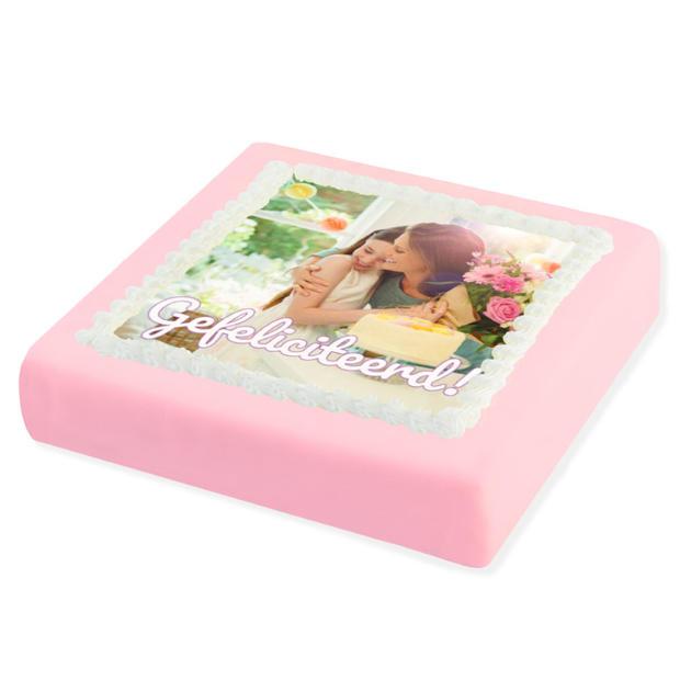 Roze Marsepein taart