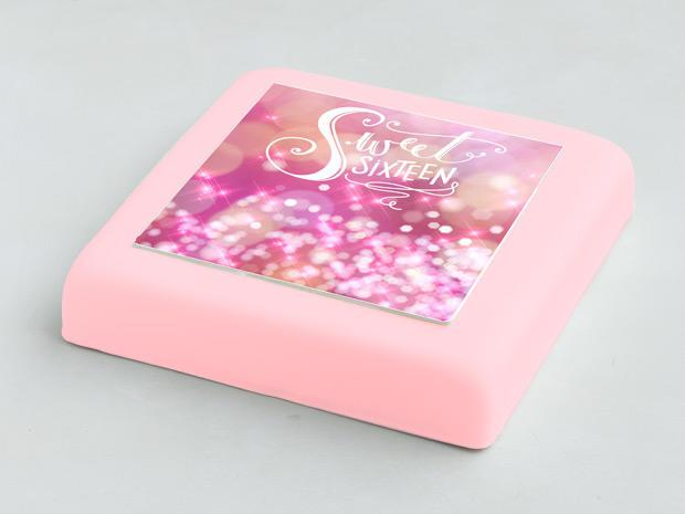 Welp Sweet-Sixteen Marsepein taart bestellen | gefeliciTAART.nl YV-18