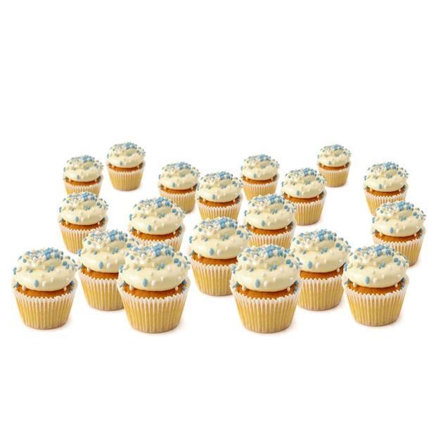 Mini-Blue Geboorte Cupcakes