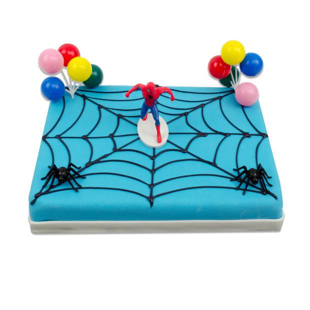 Spiderman Marsepein taart
