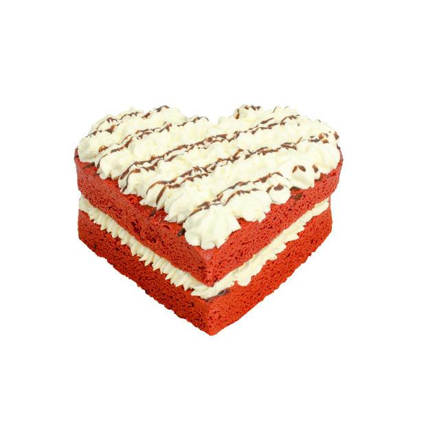 Red Velvet Hart Cake
